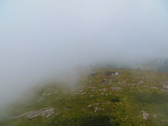 Cerro Pan de Azucar - View from in the cross 3 minutes later as the clouds stormed in